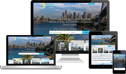 Sydney Tourism displayed beautifully on multiple devices