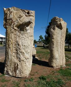 Fossilised Forrest Sculptures - Sydney Tourism