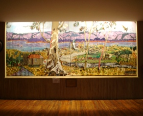 Adaminaby Memorial Hall Stage Curtain - Sydney Tourism