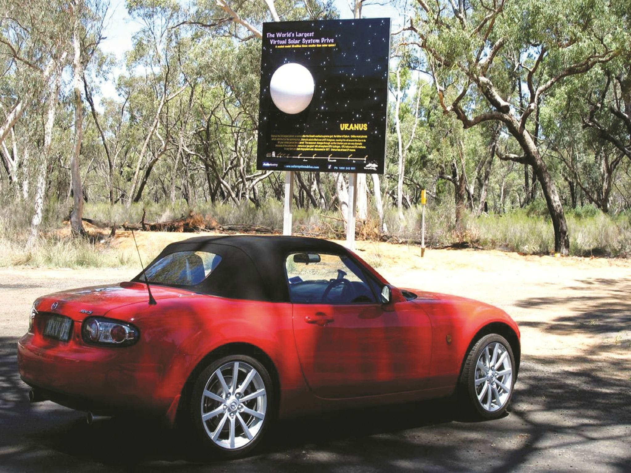 Worlds Largest Virtual Solar System Drive - Sydney Tourism