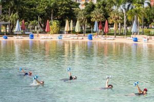Aqua fitness in the Wave Lagoon - Sydney Tourism