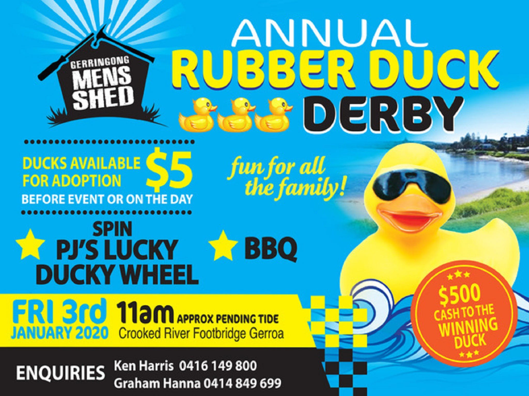 Gerringong Mens Shed Annual Duck Derby - Sydney Tourism