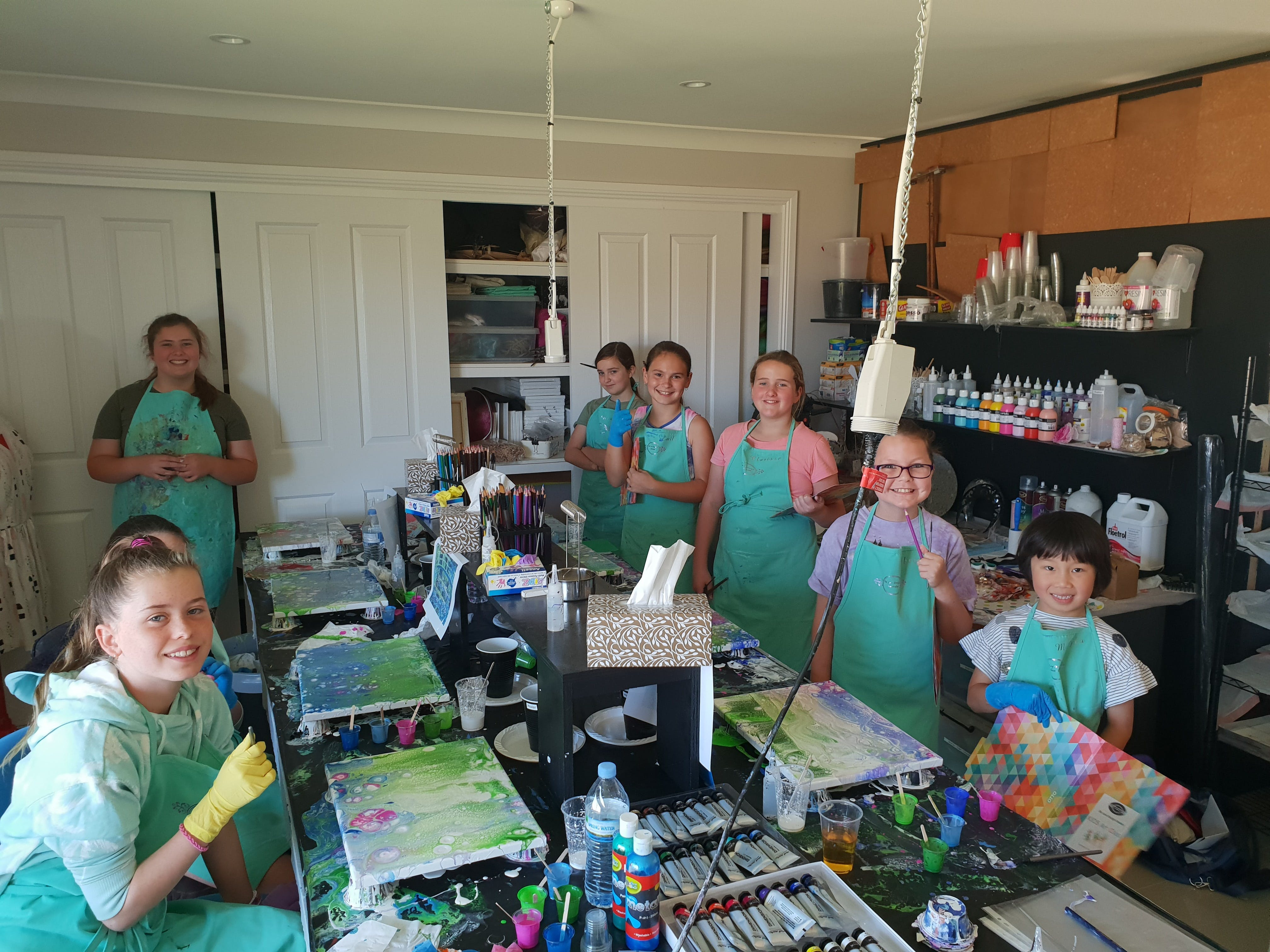 School holidays - Kids art class - Painting - Sydney Tourism