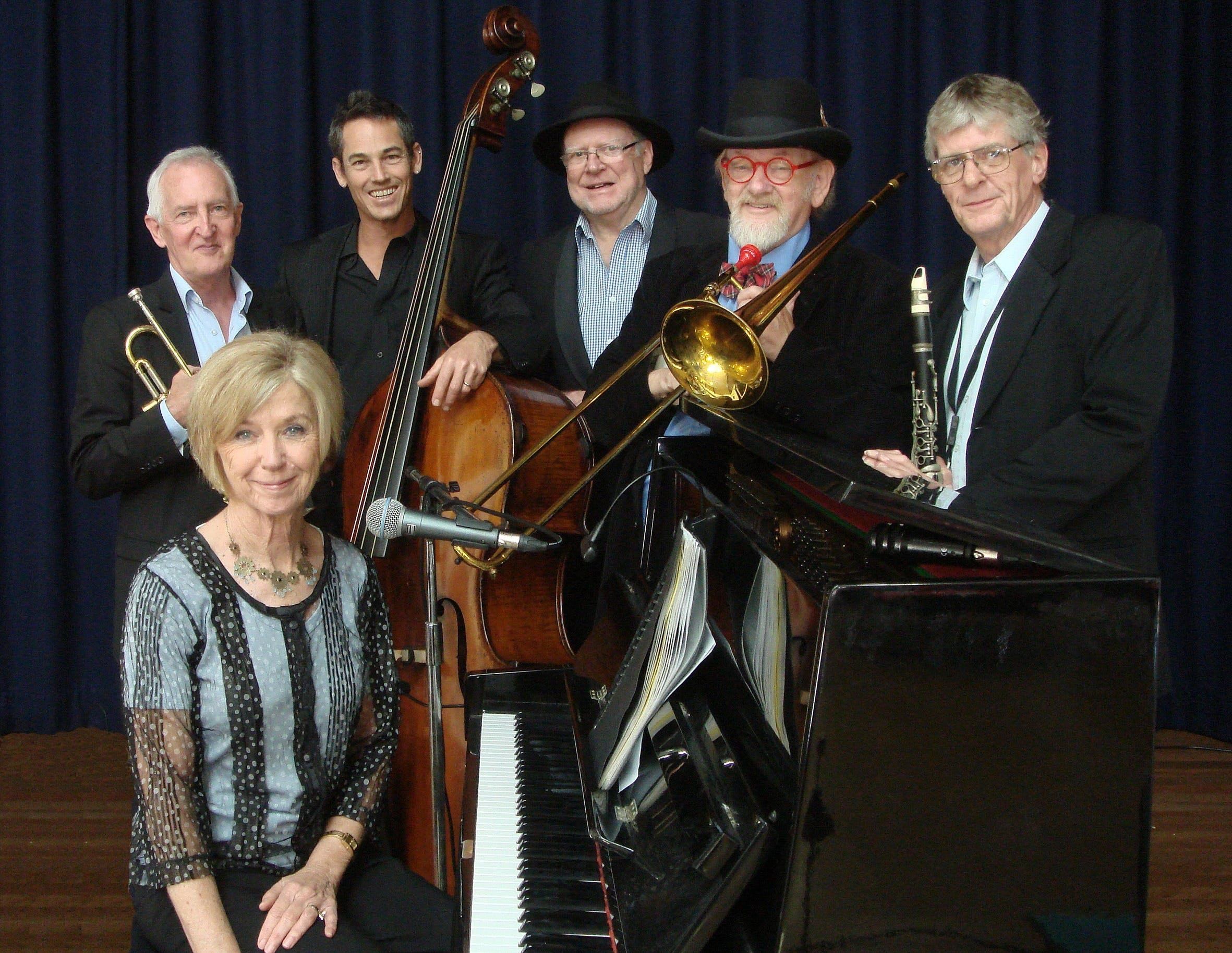 The Caxton Street Jazz Band in the Swigmore Hall at Robert Channon Wines - Sydney Tourism