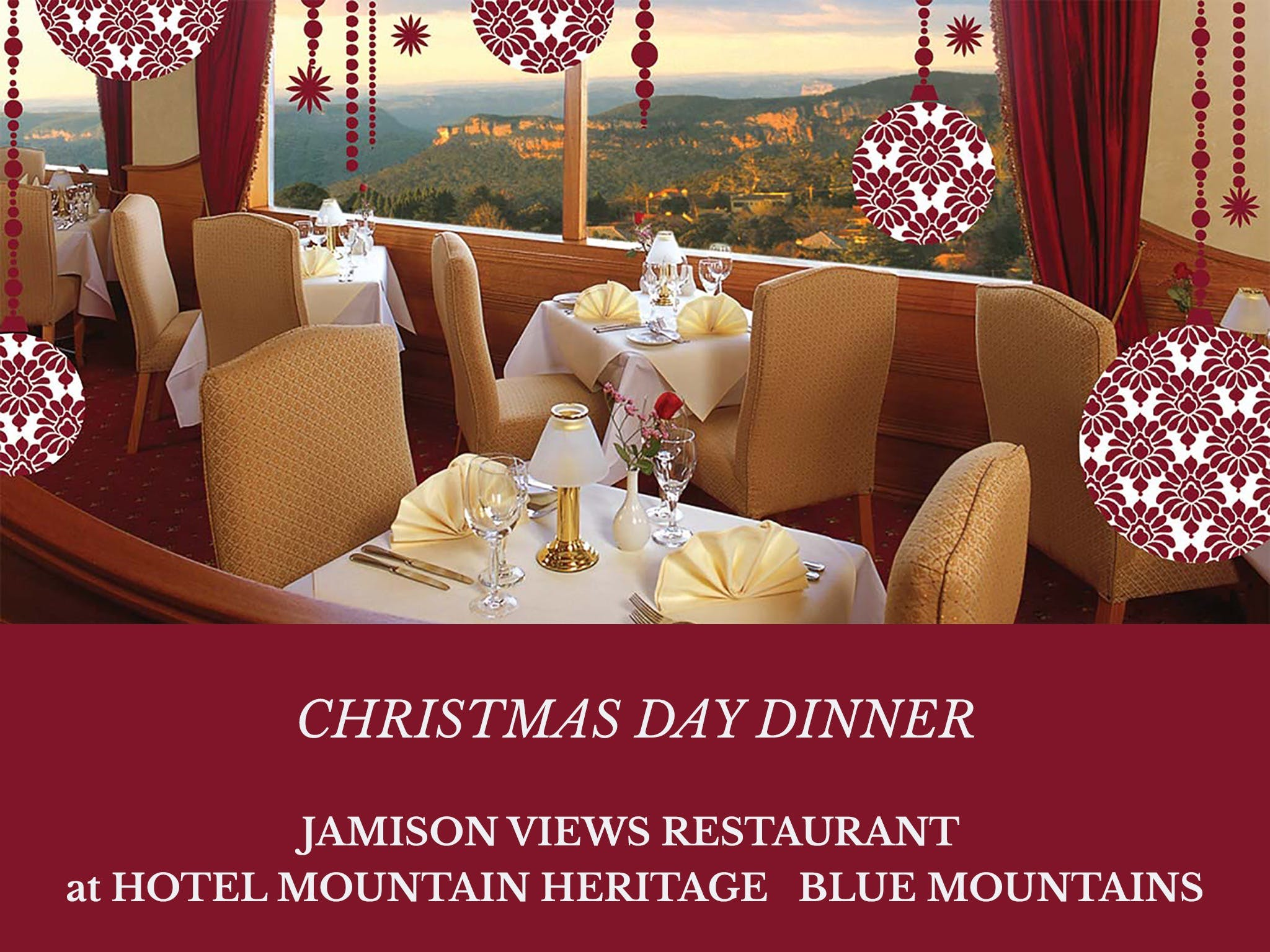 Christmas Day Dinner Hotel Mountain Heritage - Sydney Tourism