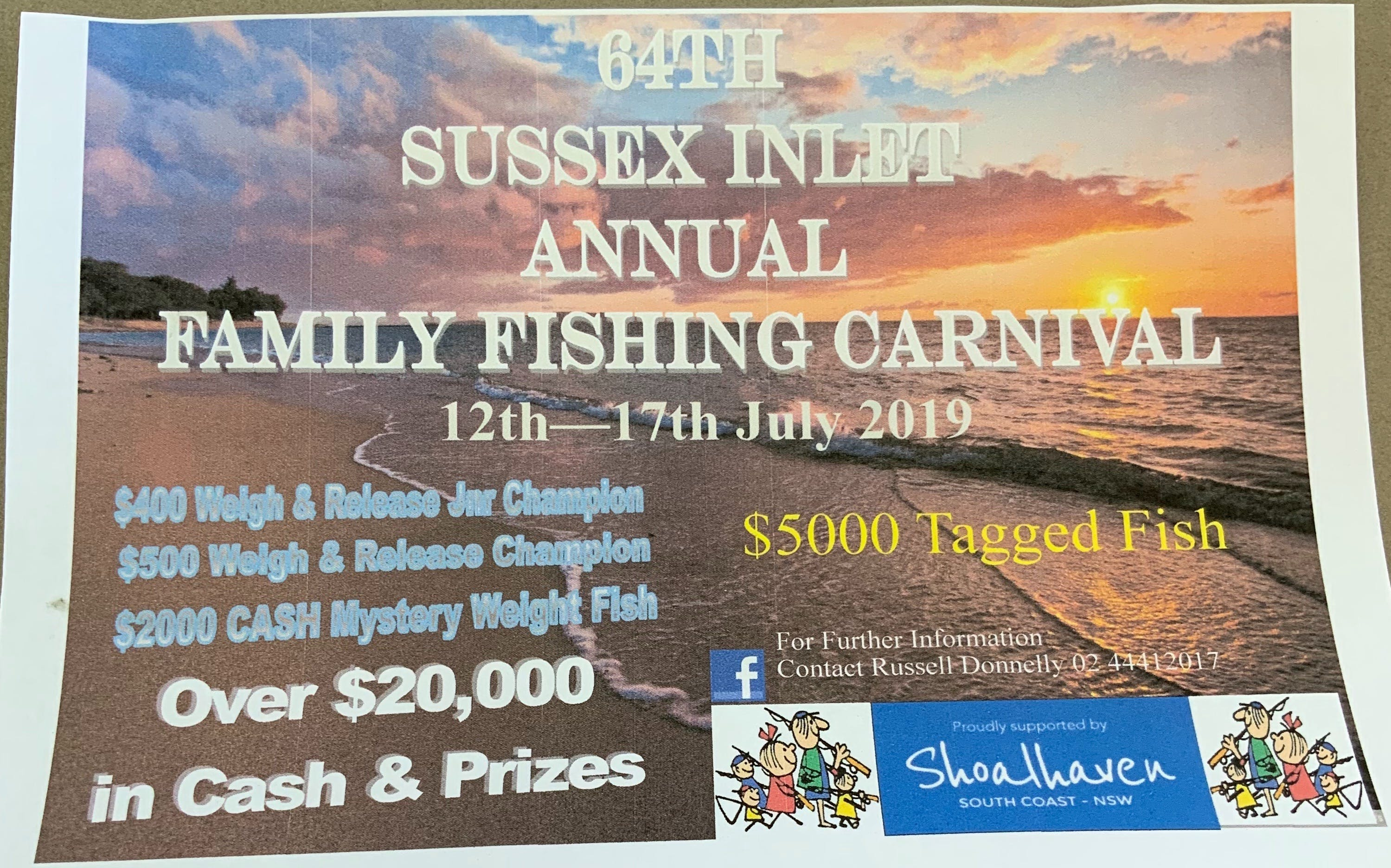 The Sussex Inlet Annual Family Fishing Carnival - Sydney Tourism